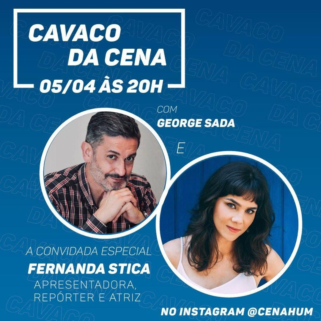 George Sada recebe Fernanda Stica no Cavaco da Cena