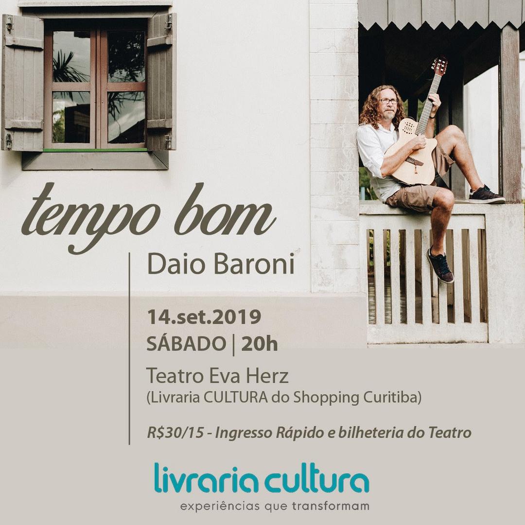 Daio Baroni comanda pocket show na Livraria Cultura