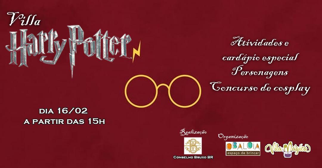 Primeiro Villa Harry Potter acontece neste sábado na Rialto Villa Gastronômica