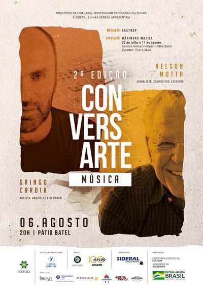 Conversarte reúne Nelson Motta, Gringo Cardia e Guilherme Kastrup para bate-papo sobre música no Pátio Batel