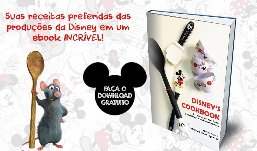Crítico de cinema e confeiteira se juntam para lançar ebook gratuito com receitas da Disney