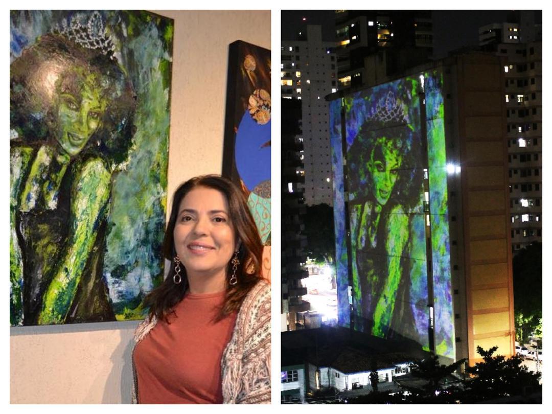 Artista e arquiteta de Curitiba, Luciana Martins, tem obras projetadas nos prédios em Belém do Pará