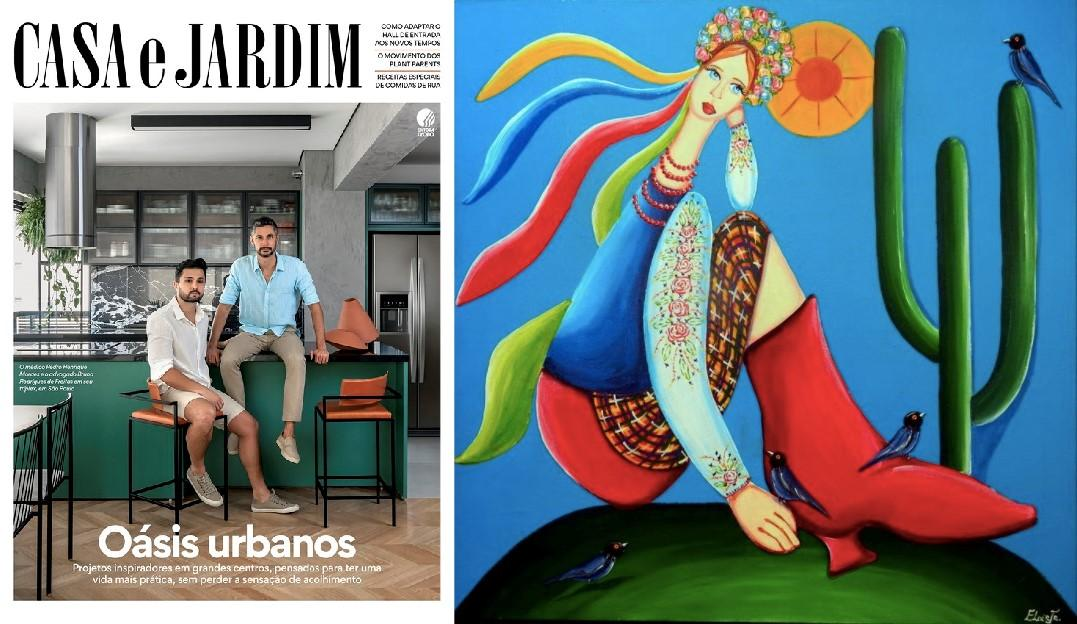 Revista CASA e JARDIM, celebra o Abaporu com obra do artista curitibano Eloir Jr.