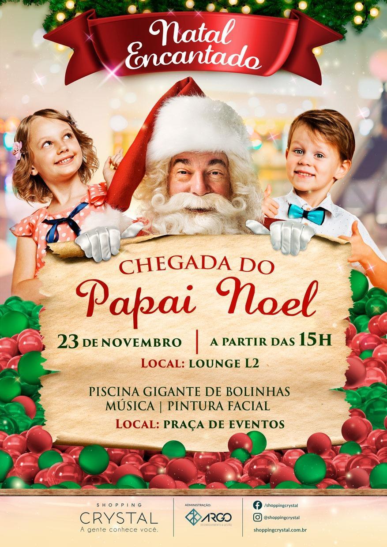 R$ 30 mil em compras e sorteios em resorts: Natal no Shopping Crystal será cheio de promoções
