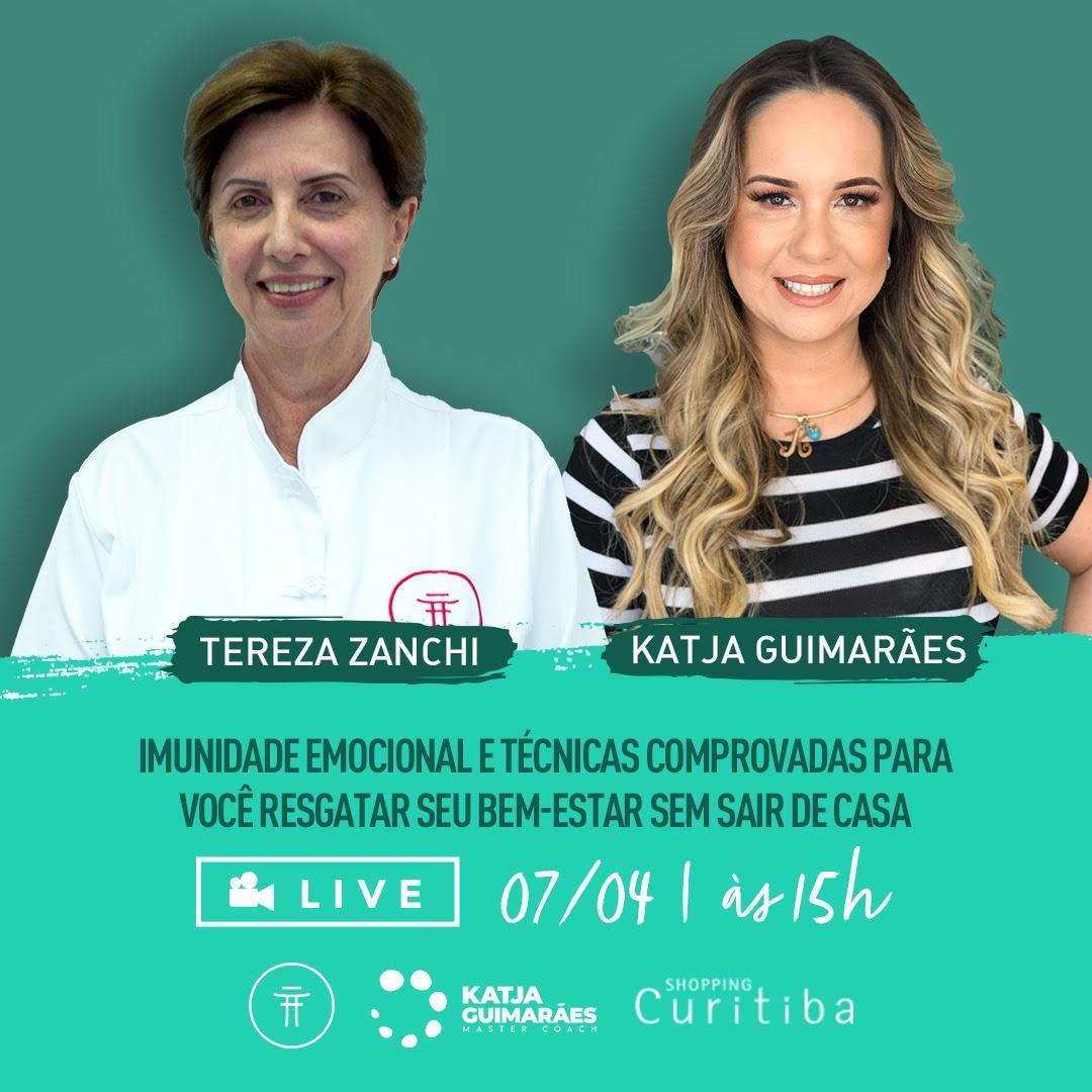 Tereza Zanchi e Katja Guimaraes falam sobre imunidade emocional em live do Shopping Curitiba