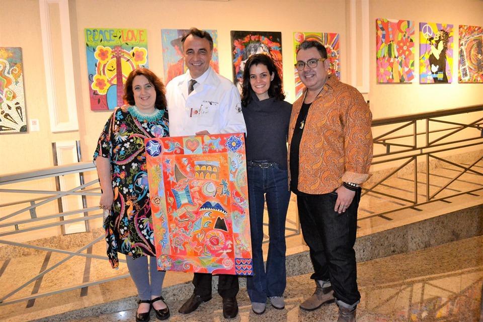 Obra da artista carioca Sonia Madruga, compõe o acervo cultural do Hospital IPO em Curitiba-PR