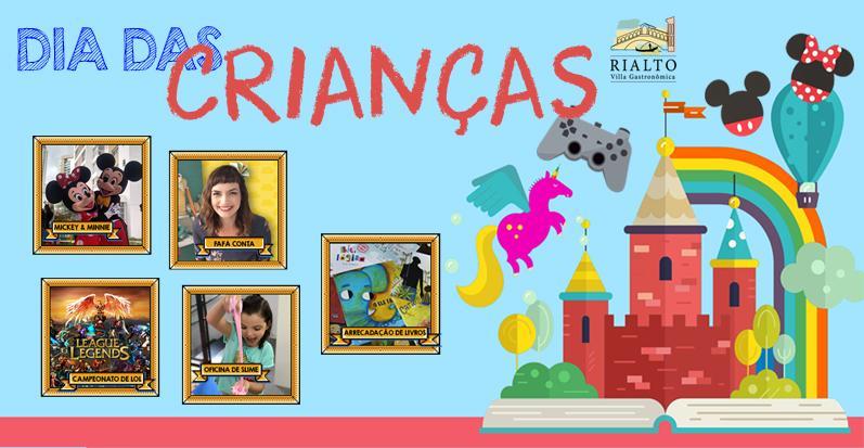 Programação Dia das Crianças para todas as idades anima o sábado na Rialto Villa Gastronômica