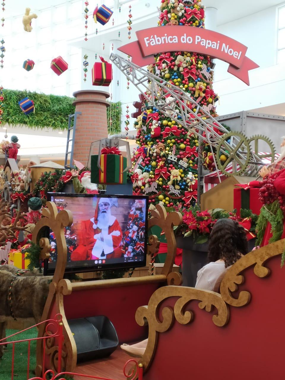 Papai Noel virtual e promoção de Natal do Catuaí Maringá encerram nesta quinta, dia 24