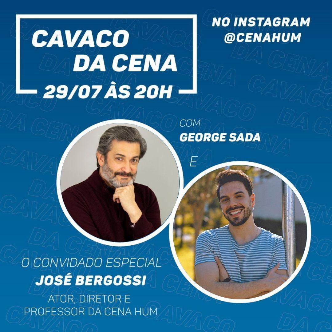 Cavaco da Cena ganha nova edição às quintas-feiras e conversa com José Bergossi