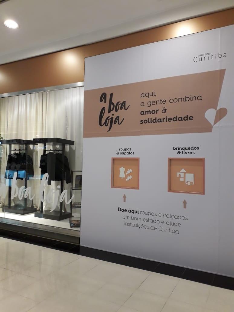 Segunda edição da A Boa Loja arrecada doações em shopping de Curitiba