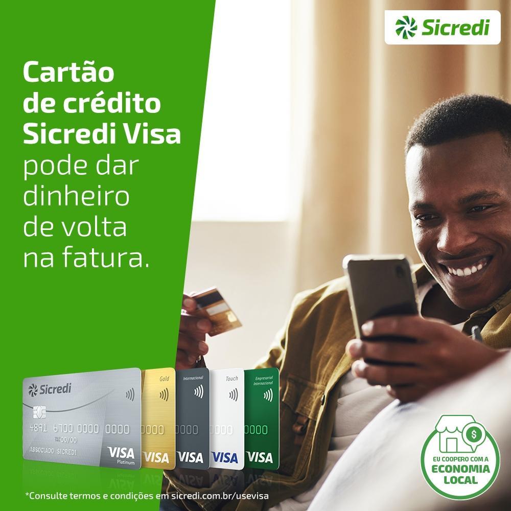 Cartões Sicredi Visa retornam dinheiro para fatura do associado