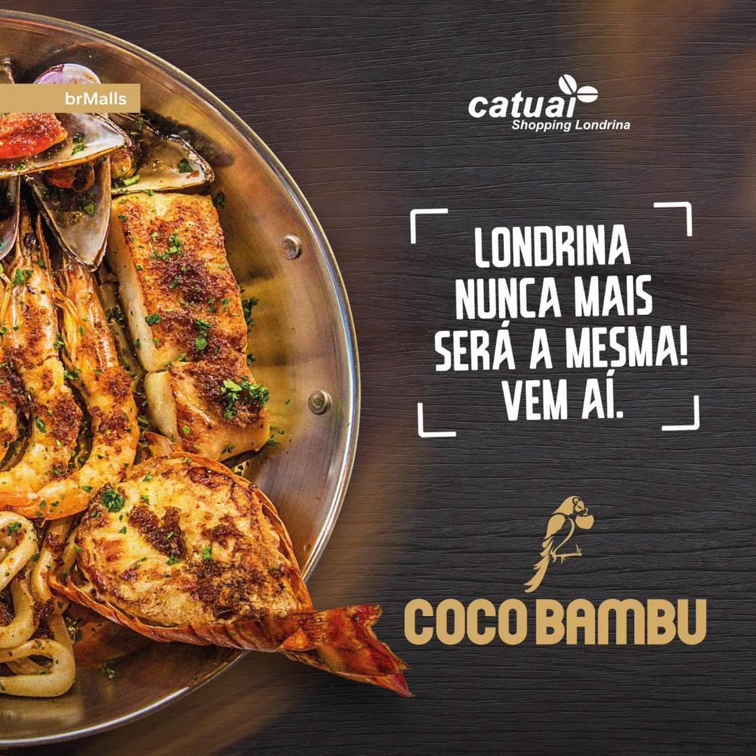 Restaurante Coco Bambu, um dos mais premiados do País, chega a Londrina no dia 21 de outubro