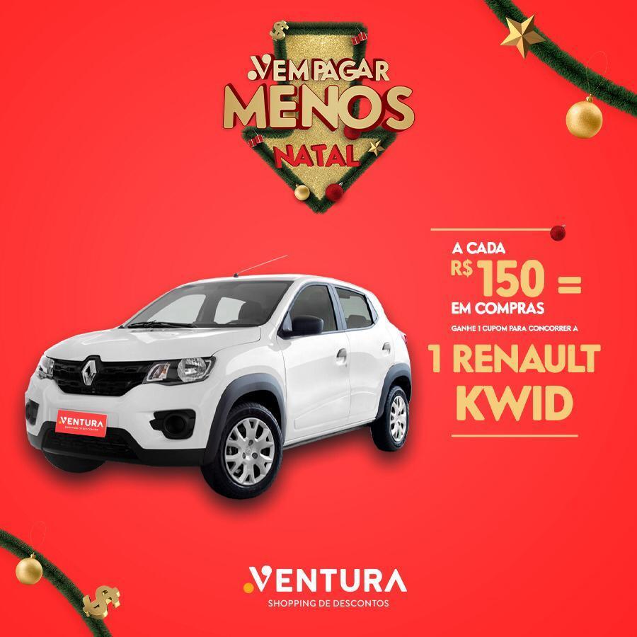 Ventura Shopping realiza sorteio de carro zero-quilômetro no dia 28 de janeiro