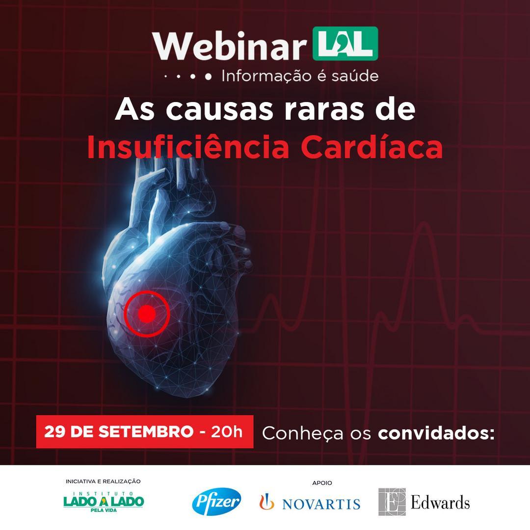 Insuficiência Cardíaca é tema de webinar do  Instituto Lado a Lado pela Vida