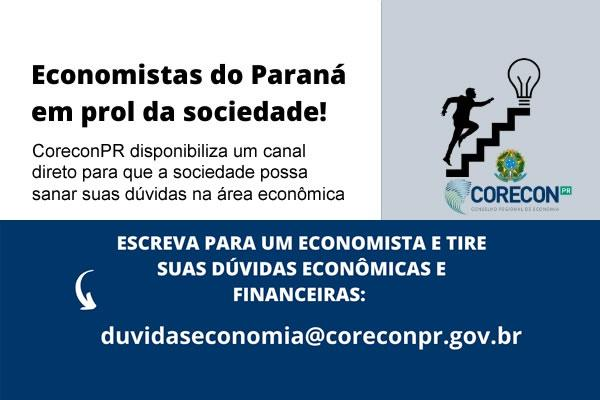 CERCA DE 100 ECONOMISTAS PARANAENSES SÃO VOLUNTÁRIOS PARA ATENDER DÚVIDAS DA POPULAÇÃO DURANTE PANDEMIA
