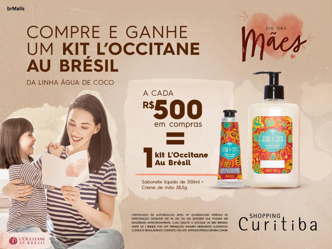 Shopping Curitiba celebra Dia das Mães com produtos L'Occitane au Brésil