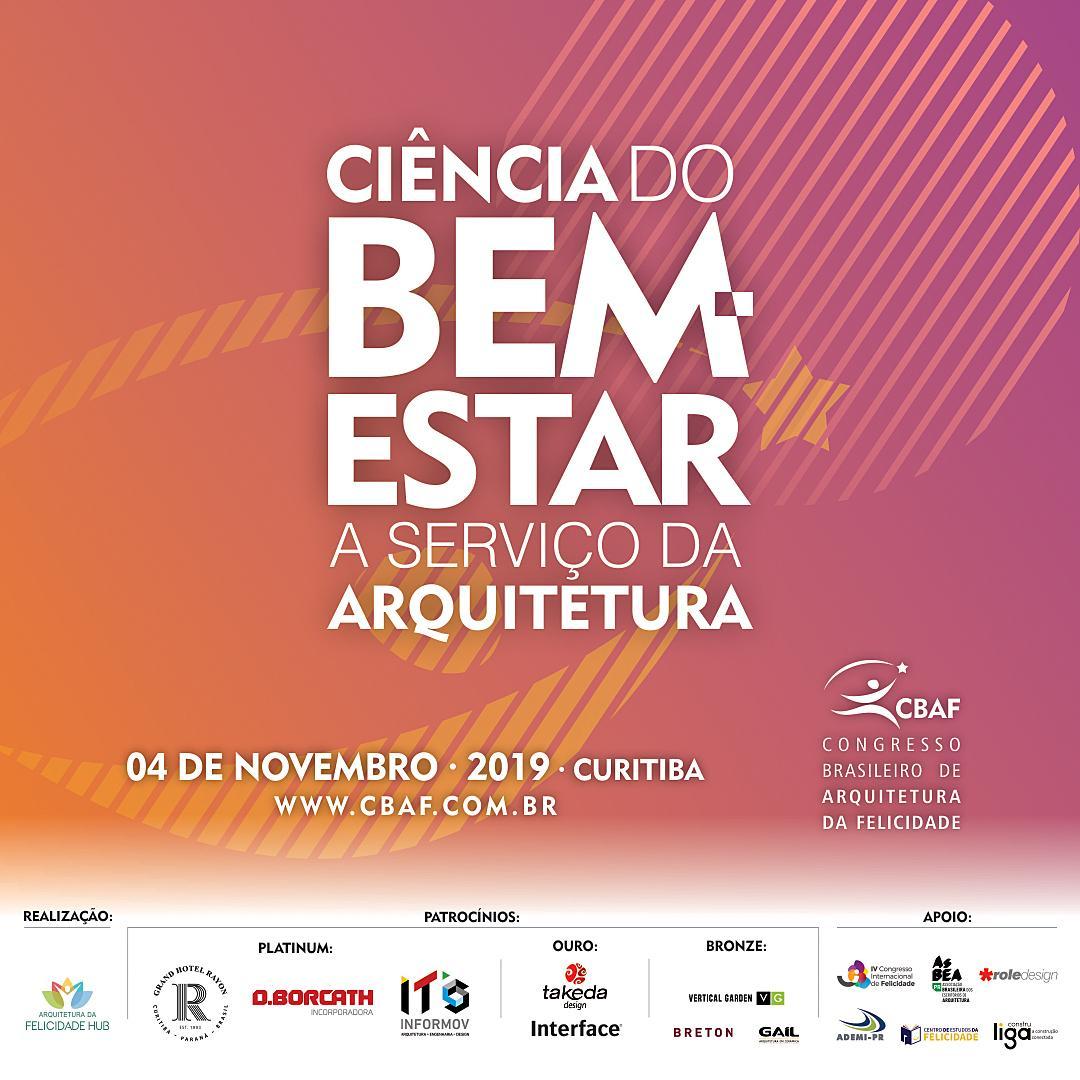 Arquitetura da felicidade é tema de congresso em Curitiba