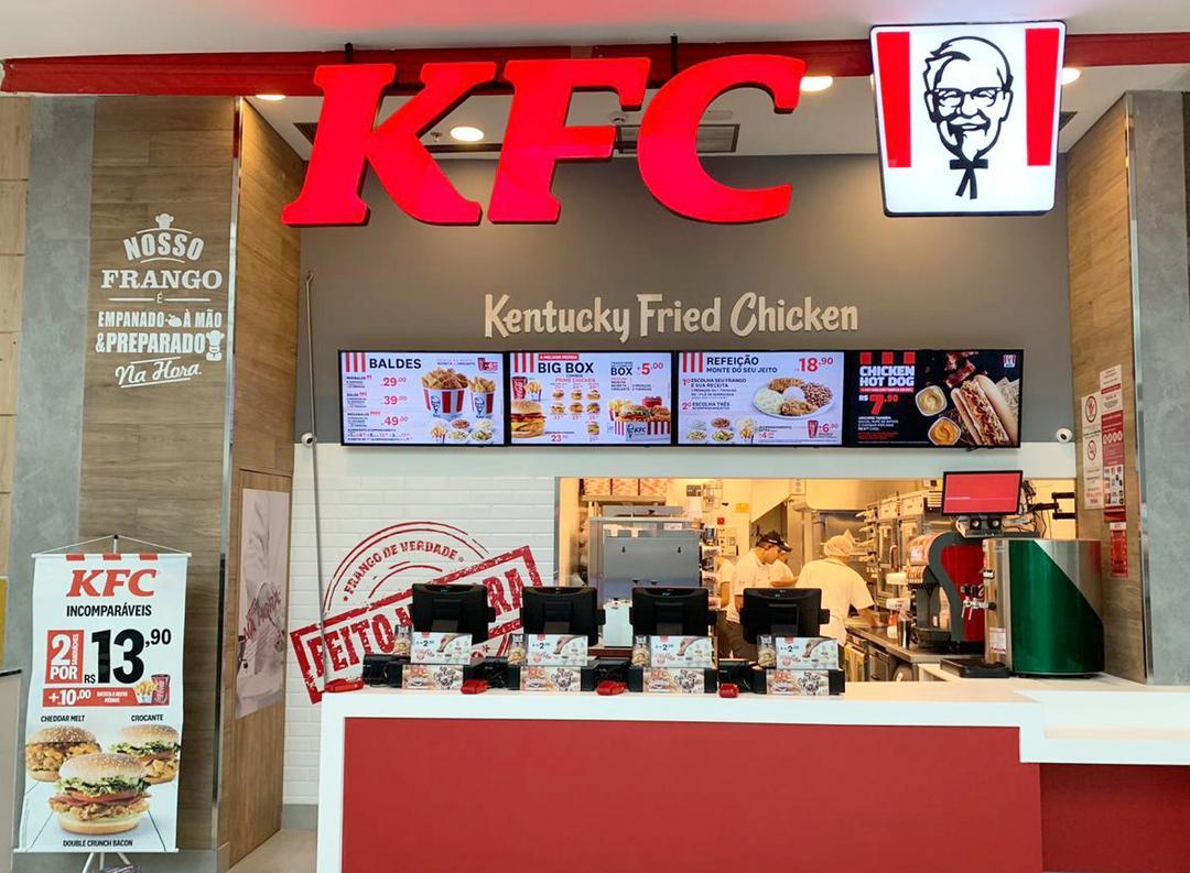 KFC abre primeira unidade do Sul do Brasil no shopping Palladium