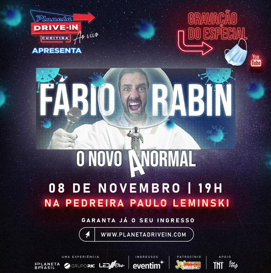 Humorista Fábio Rabin retorna à Curitiba com 'O Novo Anormal'