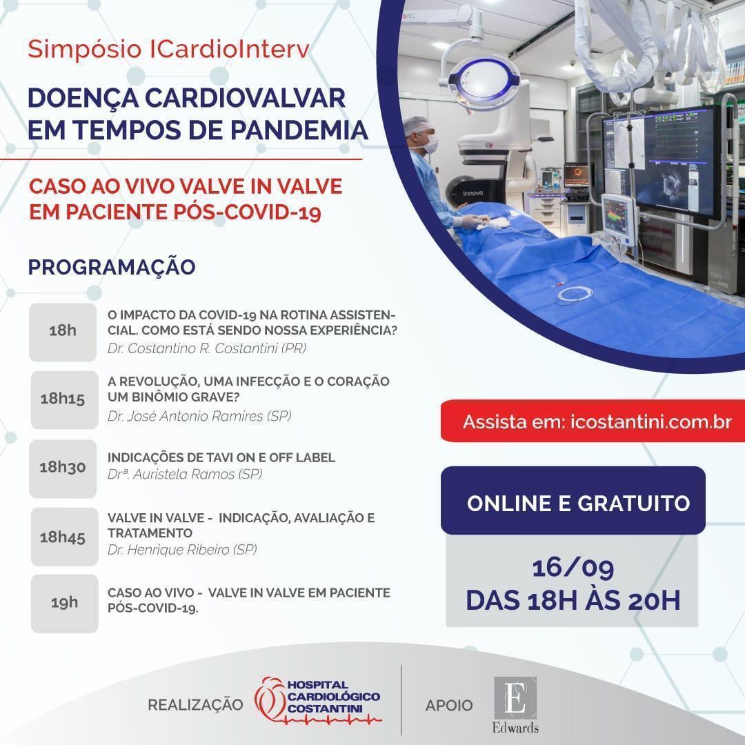 Hospital Cardiológico Costantini realiza Simpósio ICardioInterv on-line e gratuito