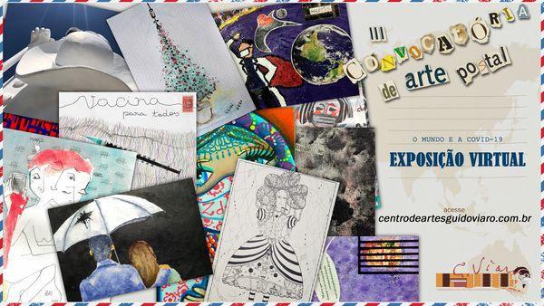 Centro Estadual de Capacitação em Artes Guido Viaro, inaugura exposição virtual de Arte Postal.