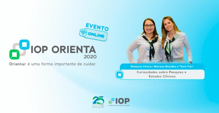 Curiosidades sobre Pesquisa e Estudos Clínicos é tema da palestra do programa IOP Orienta
