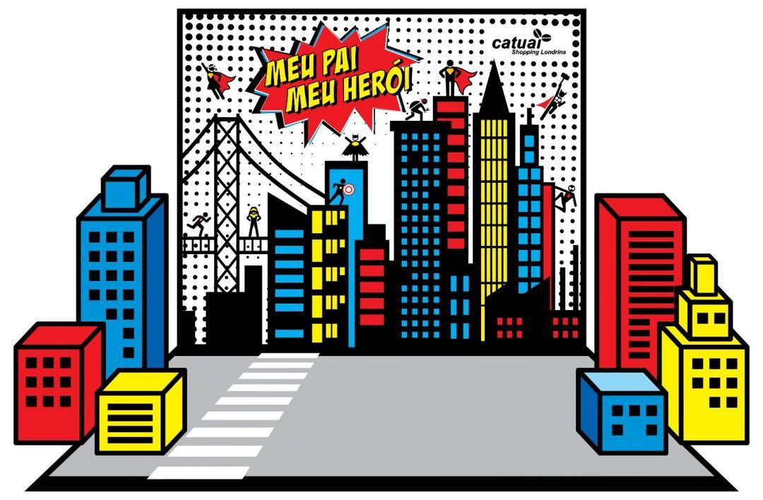 Shopping cria ambiente de super-heróis para campanha de Dia dos Pais
