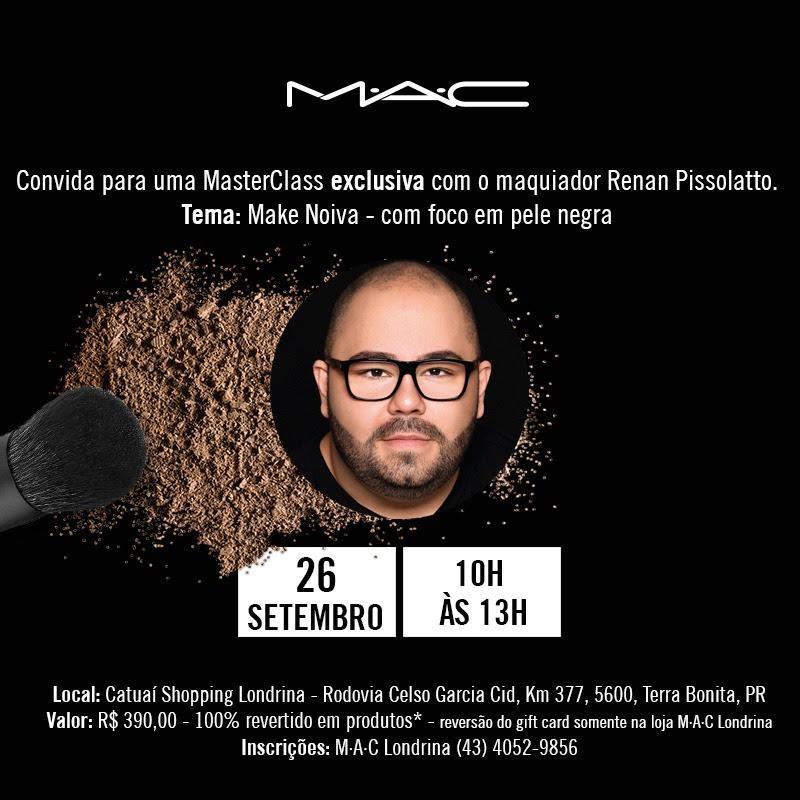 MAC Comésticos realiza MasterClass exclusiva com o maquiador Renan Pissolatto