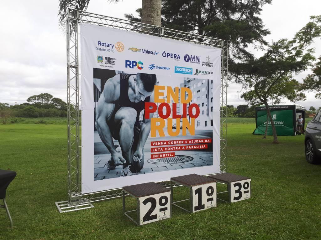 End Polio Run mobiliza corredores virtualmente para combater a paralisia infantil