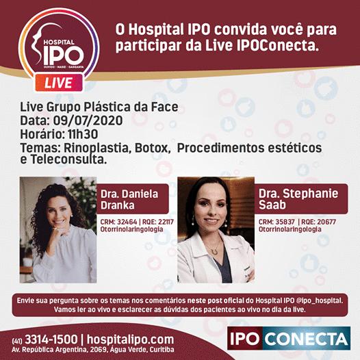 Especialistas tiram dúvidas sobre rinoplastia, botox e procedimentos estéticos em Live do Hospital IPO