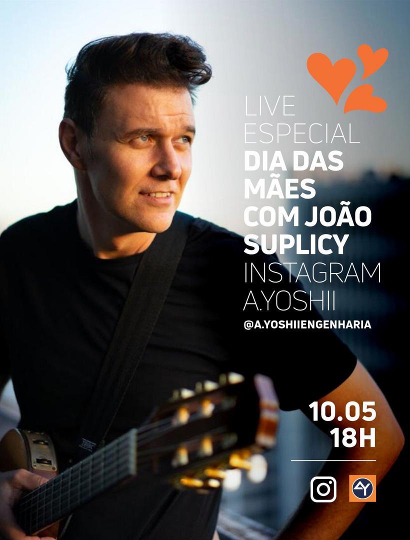 Em homenagem ao Dia das Mães, A.Yoshii convida João Suplicy para live no Instagram