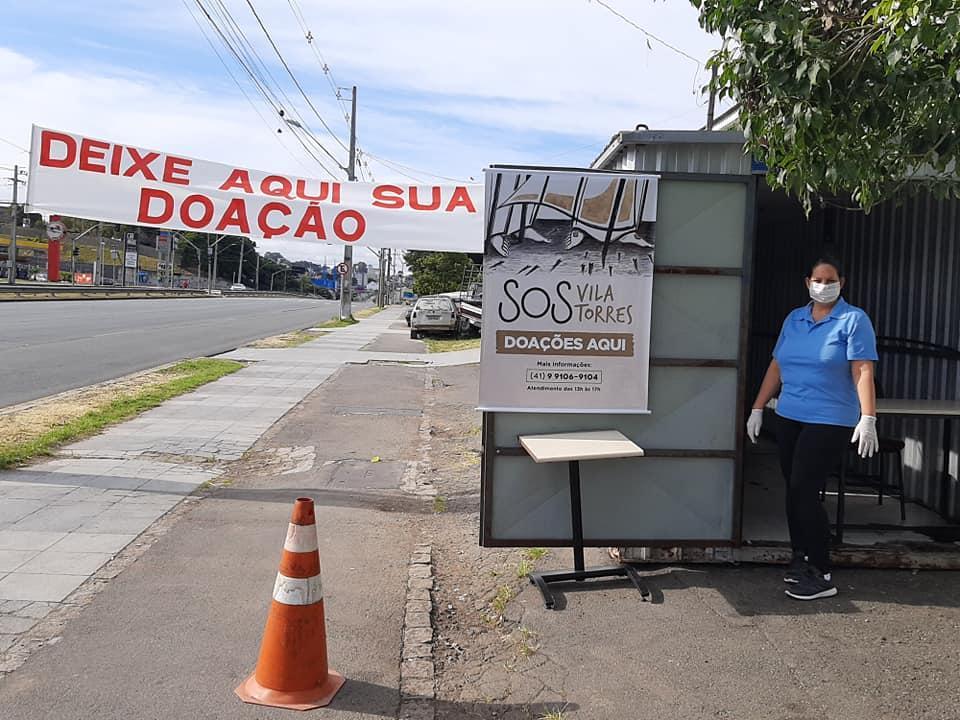 Campanha incentiva doações em prol da Vila Torres