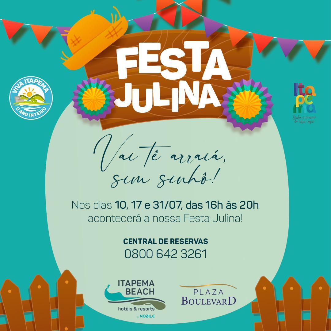 Festa Julina no Plaza Boulevard Itapema