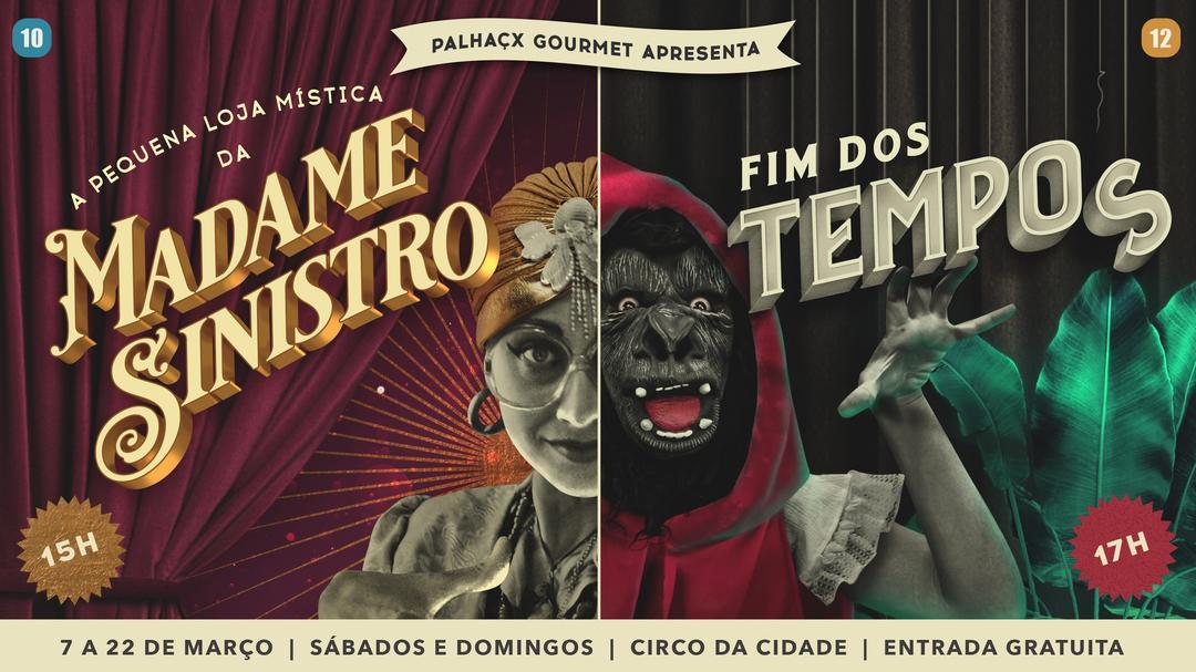 Em dose dupla: Circo da Cidade recebe dois espetáculos gratuitos de Circo-Teatro com o coletivo Palhaçx Gourme