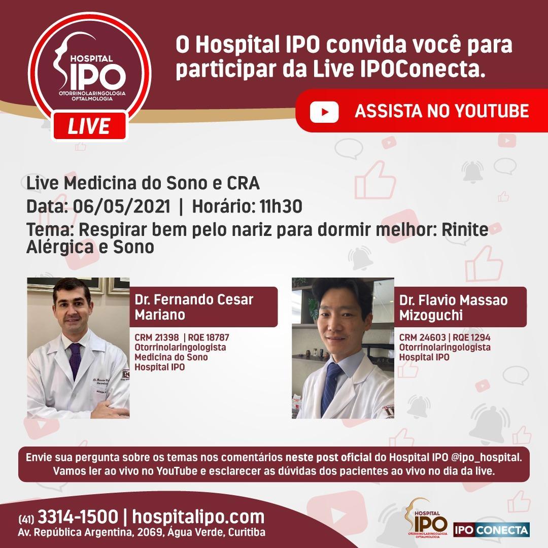 Hospital IPO promove live sobre a importância de respirar bem para dormir melhor