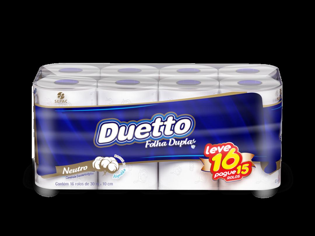 Sepac com nova embalagem promocional de Duetto folha dupla
