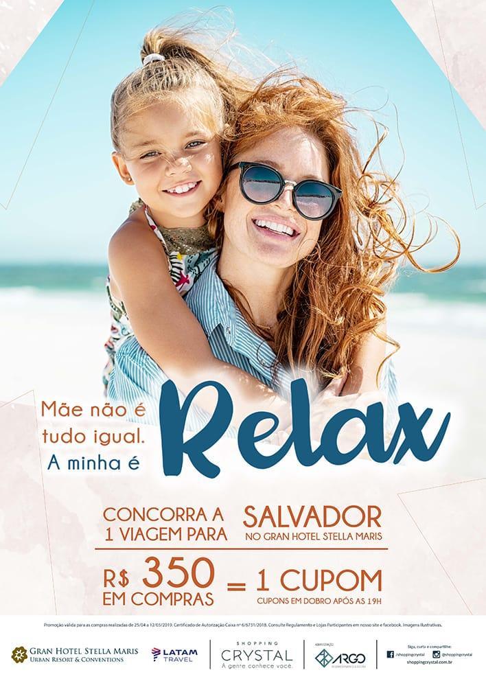 Dia das Mães: Shopping Crystal sorteia viagem para Salvador e oferece programação gratuita