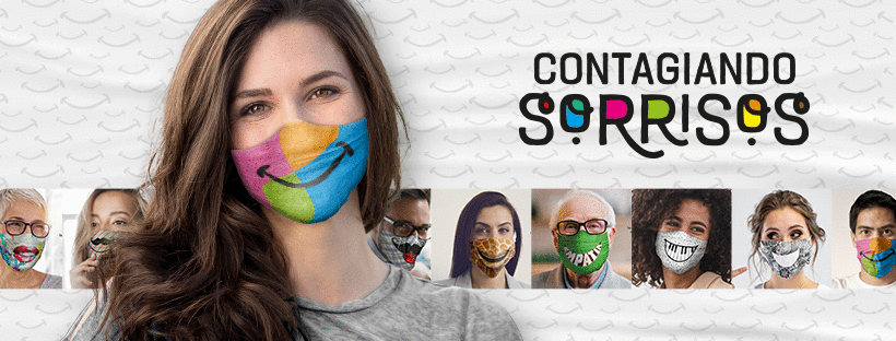 Contagiando Sorrisos promove o uso de máscaras com ilustrações feitas por artistas