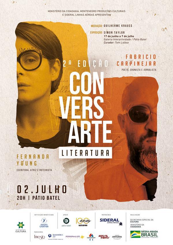 Fernanda Young e Fabrício Carpinejar debatem literatura no segundo encontro do Conversarte