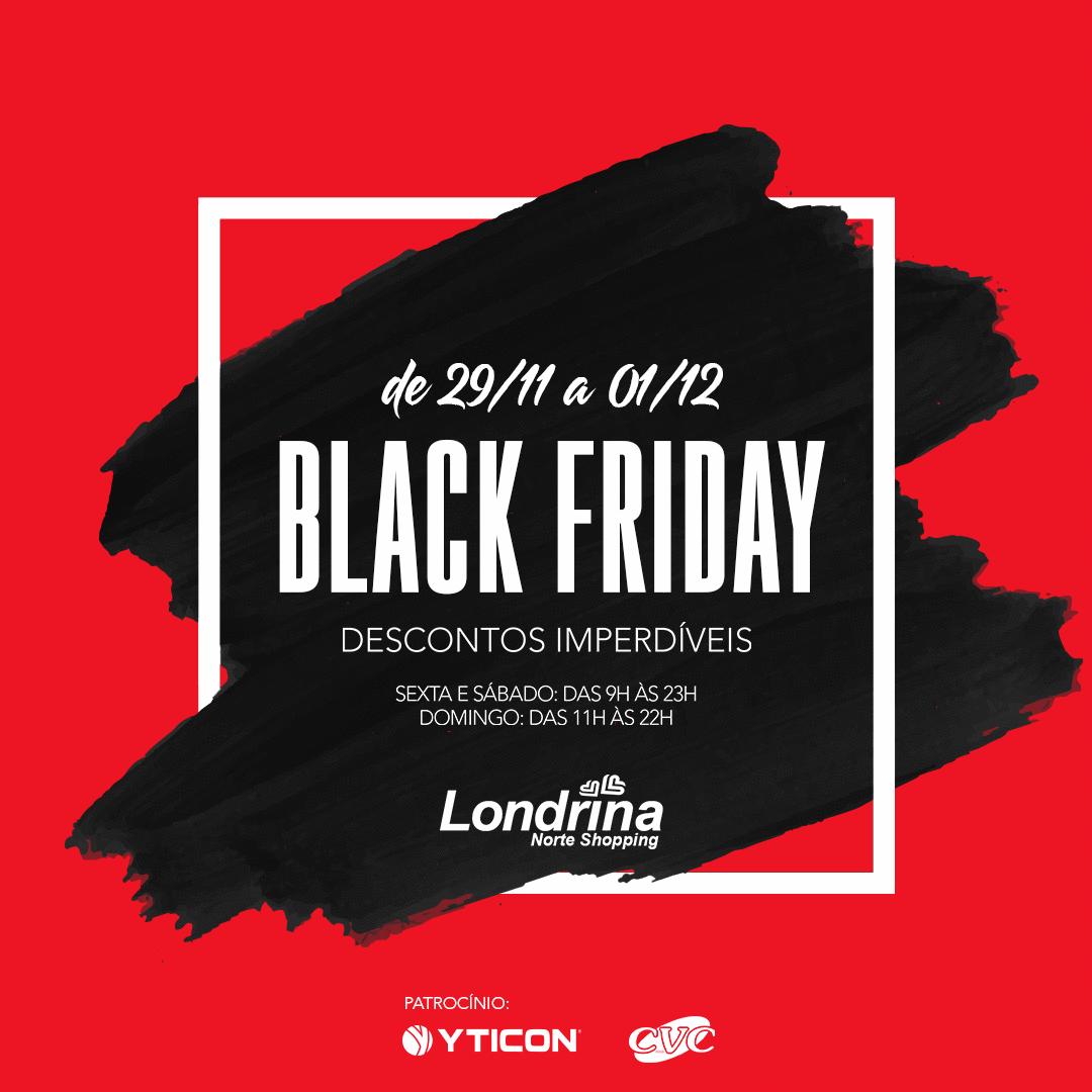 Black Friday: lojas do Londrina Norte Shopping vão oferecer descontos de até 70%