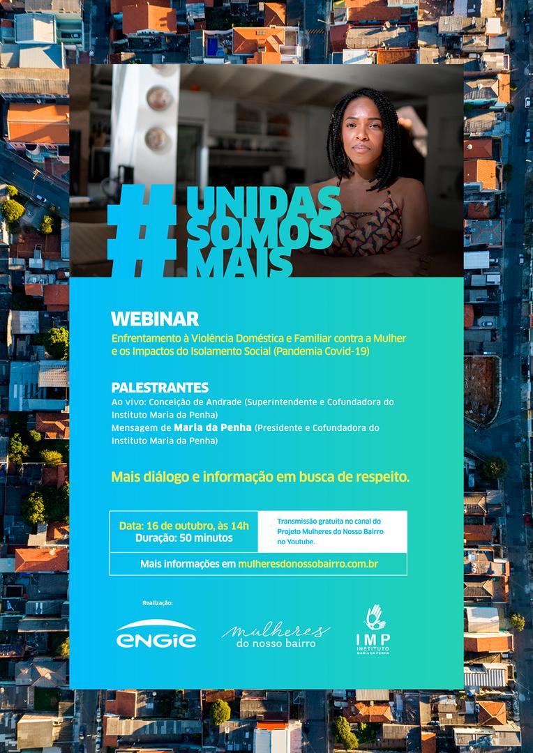ENGIE promove LIVE com Instituto Maria da Penha para debater a violência contra a mulher