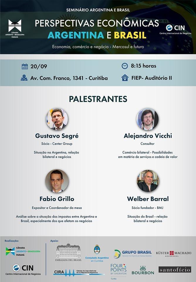 Perspectivas econômicas do Brasil e Argentina serão debatidas em Curitiba