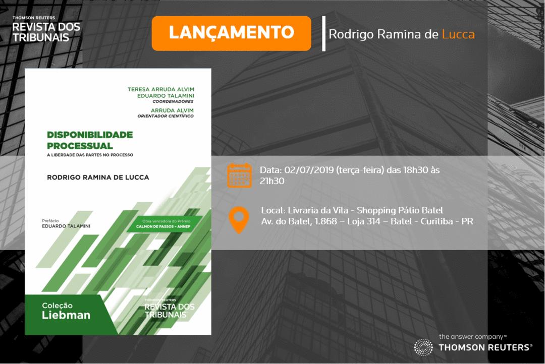 Advogado lança livro sobre disponibilidade e liberdade processual na Livraria da Vila