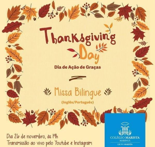 Missa bilíngue de Ação de Graças será celebrada nesta quinta
