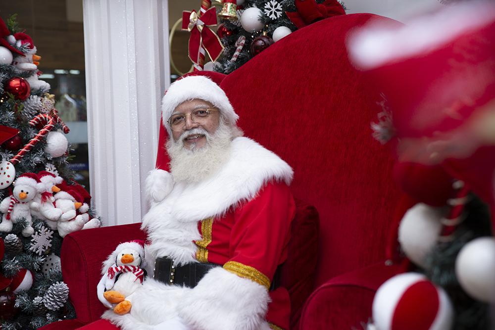Papai Noel chegou ao Ventura Shopping