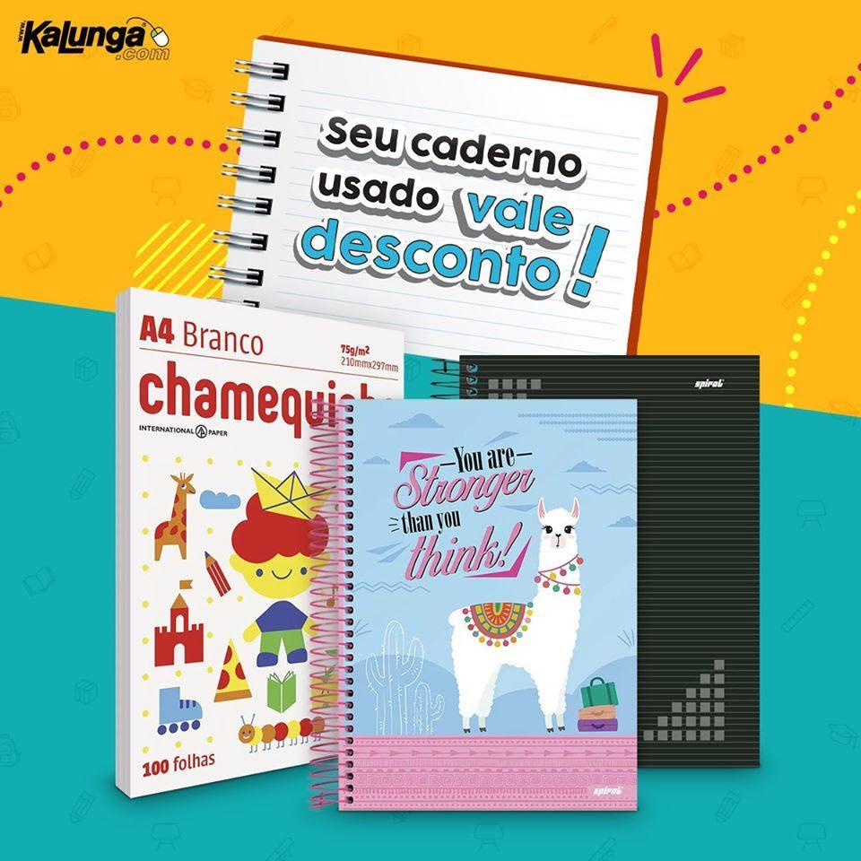 Kalunga troca cadernos usados por descontos em campanha de reciclagem