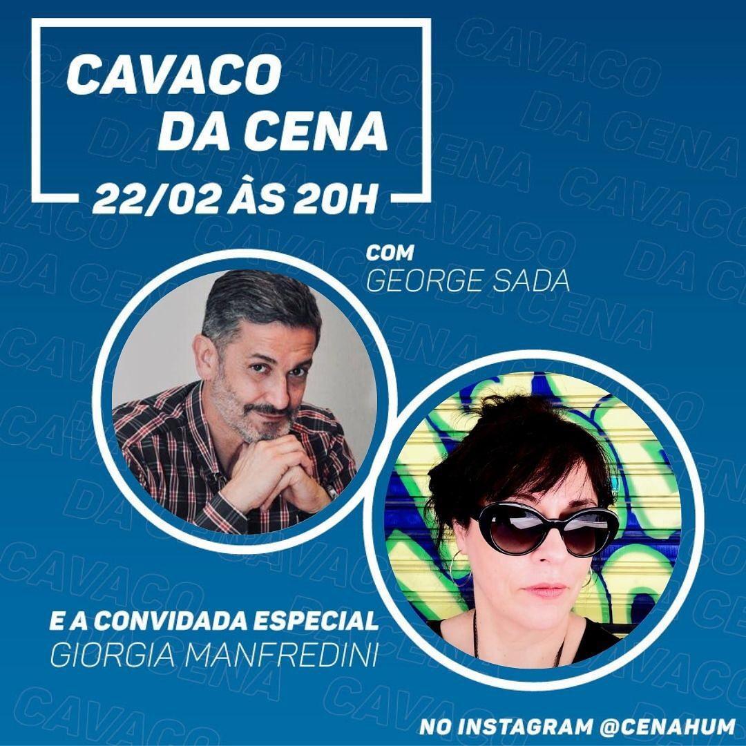 George Sada e Giórgia Manfredini participam do Cavaco da Cena Hum