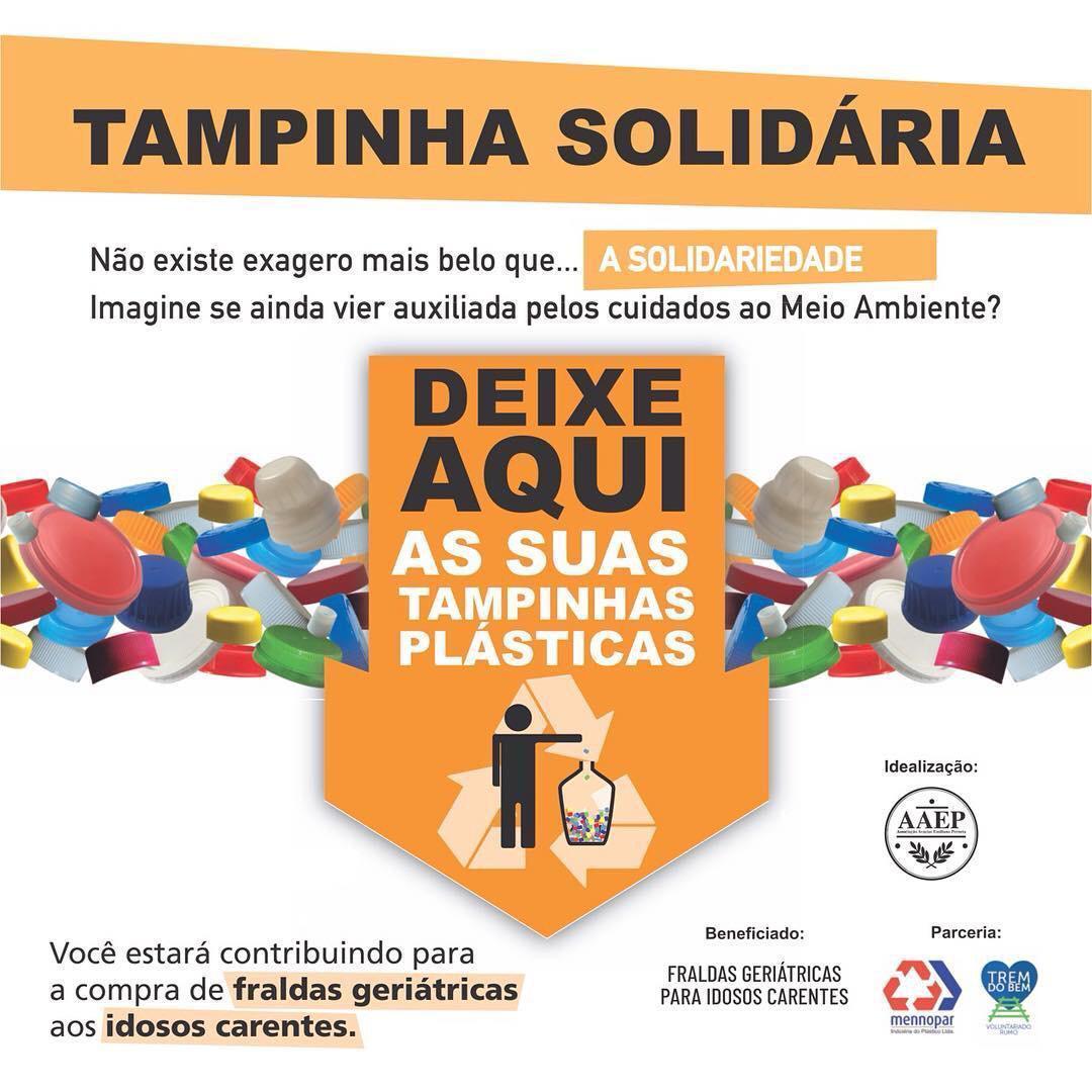 Tampinha solidária! Postos de coleta em Curitiba!