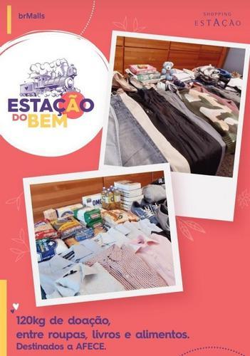 Shopping arrecada 120 kg em doações para instituição de Curitiba