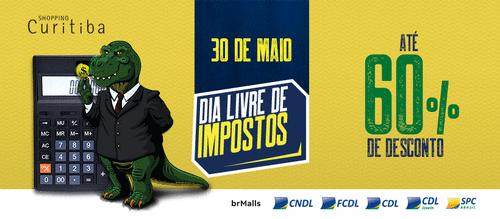 Shopping Curitiba adere ao Dia Livre de Impostos e oferece desconto aos consumidores